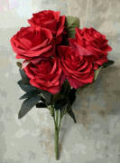 BQ ROSA KN000707 VERMELHO C/10 45CM