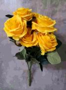 BQ ROSA KN000717 AMARELA C/10 45CM