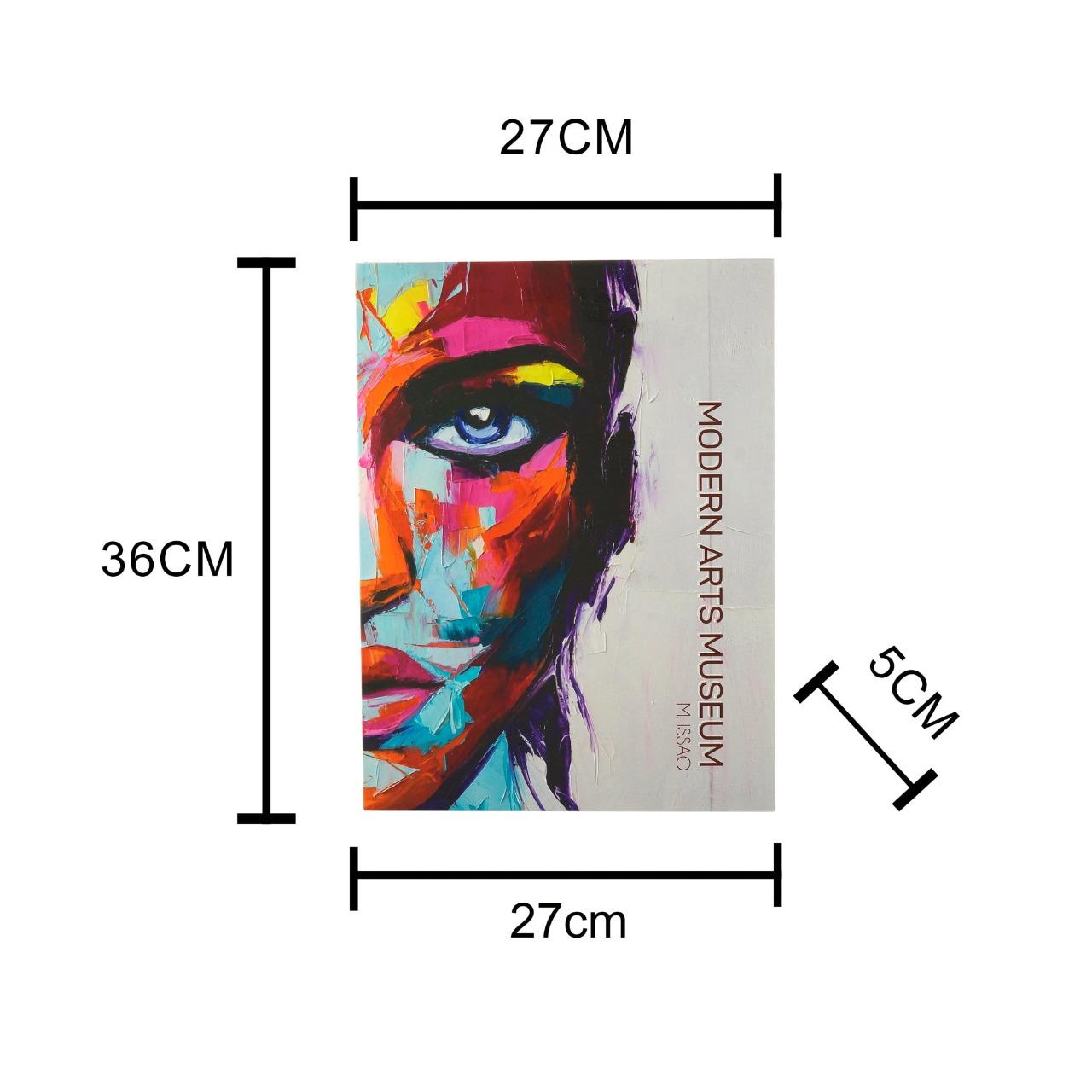 CAIXA 61222 LIVRO MODERN ARTS PAPEL RIG 36X27X5CM