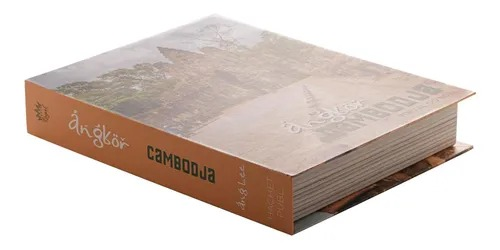 CAIXA 61273 LIVRO CAMBODJA PAPEL RIG 30X24X5CM