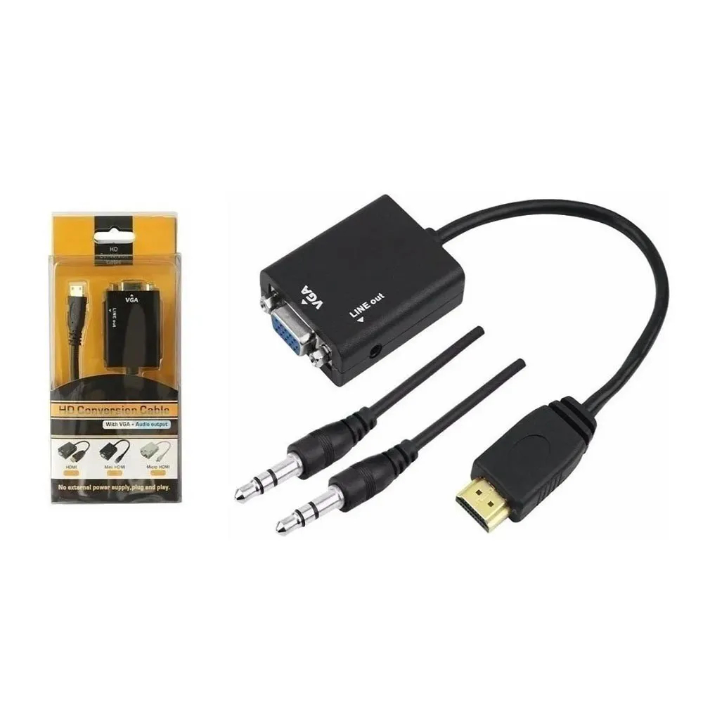 Adaptador HDMI X VGA Box HD Conversion Cable