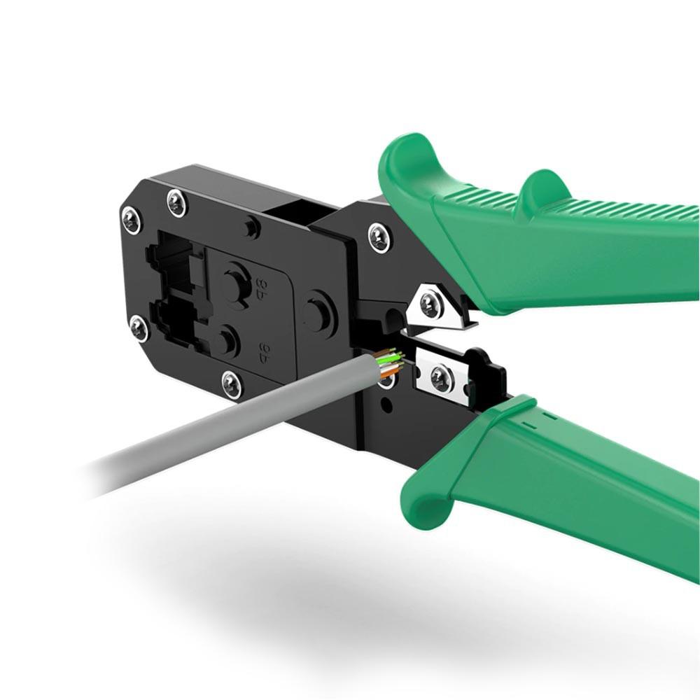 Alicate de Climpar RJ 11 / 12 / 45 Verde X10