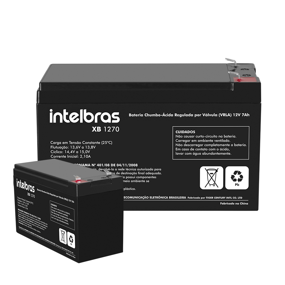 Bateria Selada 12v 7amp XB 1270 Intelbras
