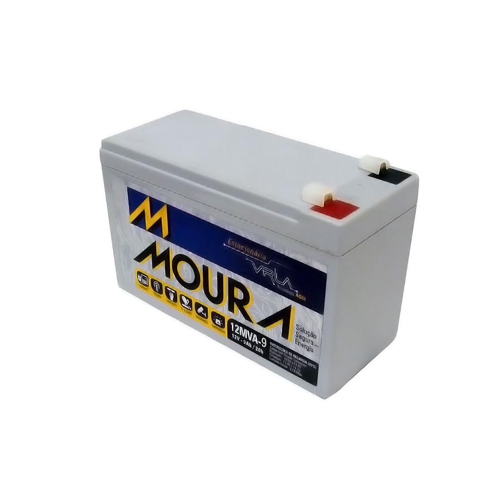 Bateria Selada 12v 9amp 12MVA-9 Moura