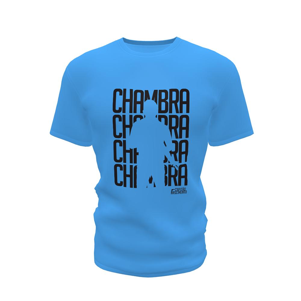 Camisa Capitão Nascimento Masculina Azul CNK