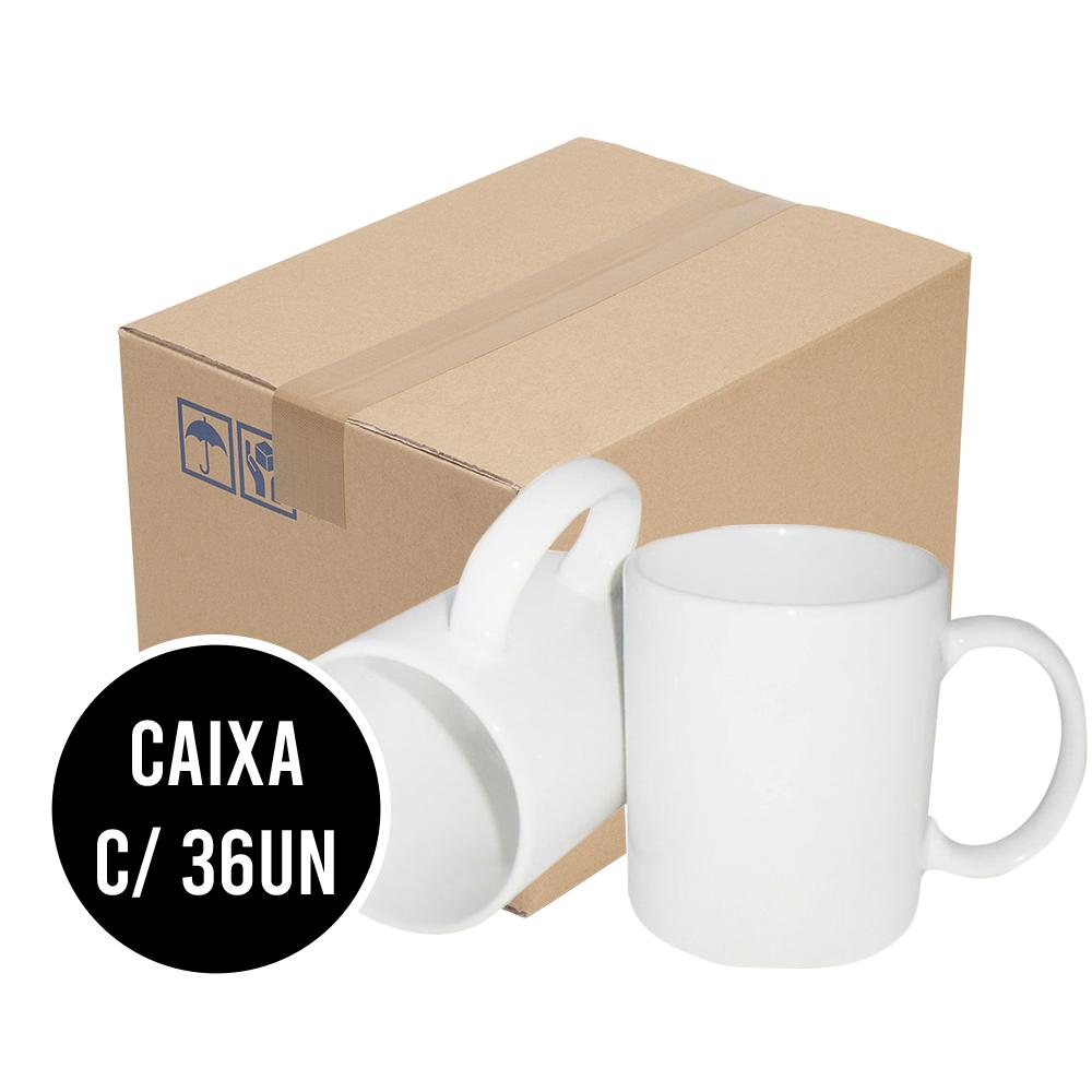 Caneca Porcelana Branca Sublimatica CX c/ 36un