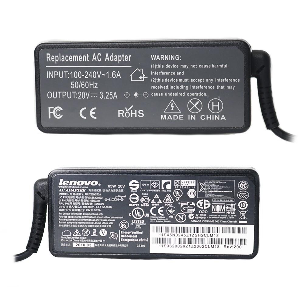 Carregador Notebook 65W 20V Lenovo