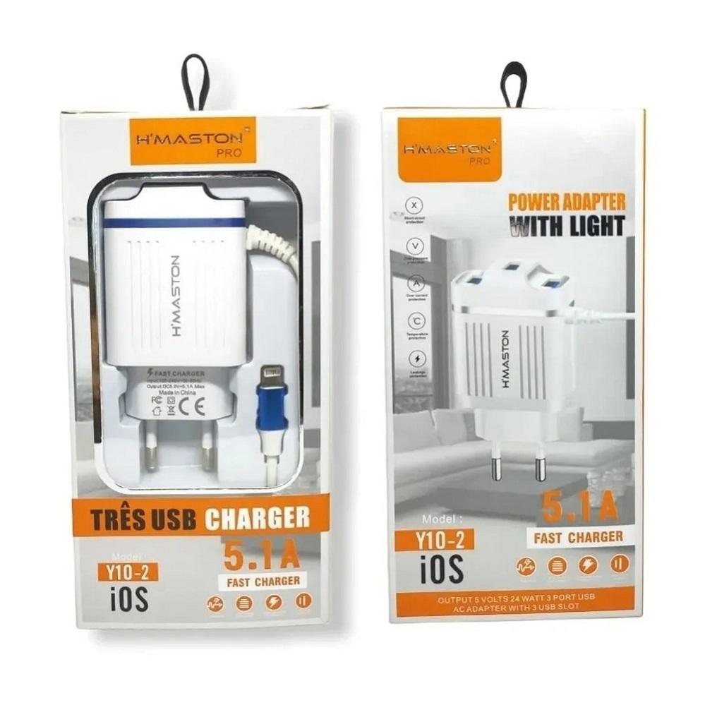 Carregador Y10-2 5.1 Iphone