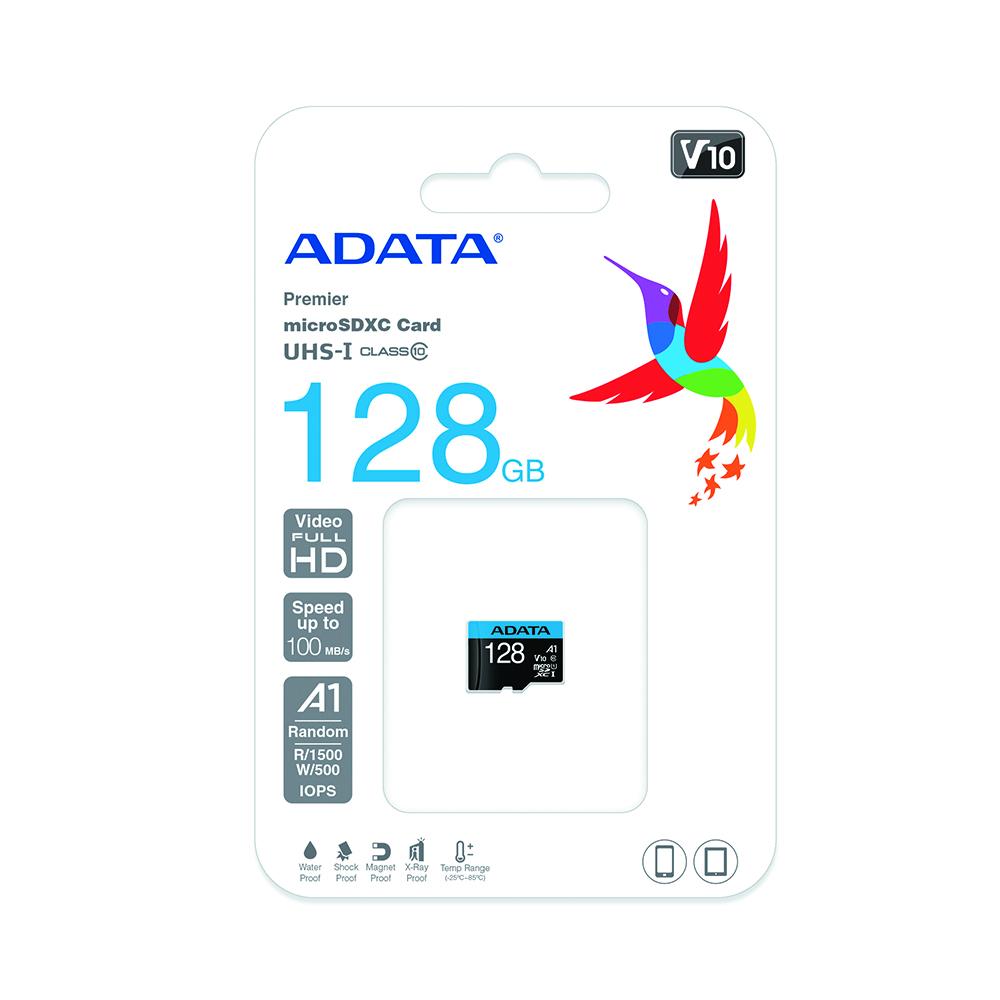 Cartao de Memoria 128GB Micro SDXC + 1 Adp Classe 10 Adata
