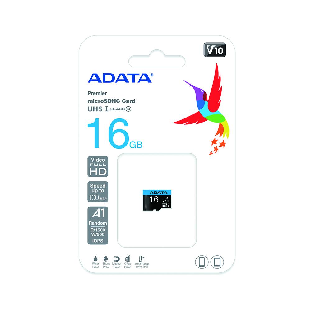 Cartao de Memoria 16GB SD Class 10 PN# ASDH16GUICL10-R A-Data
