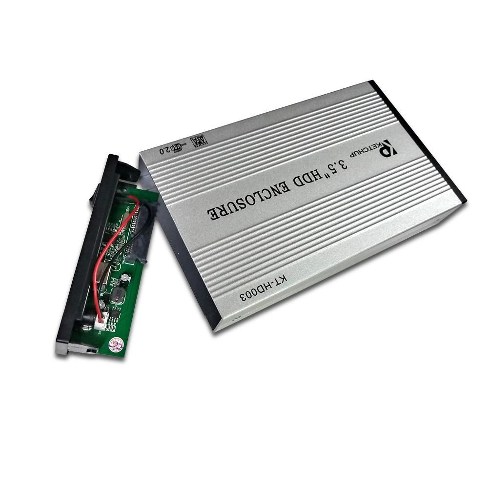 Case para HD 3,5 Externa USB 2.0 - Preto KT-HD003