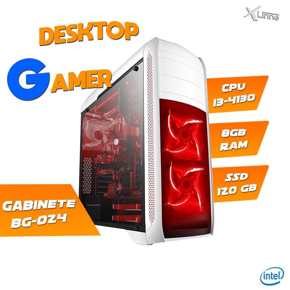 Desktop 1150 Gamer BG-024 i3 4130 8GB SSD 120GB X-Linne