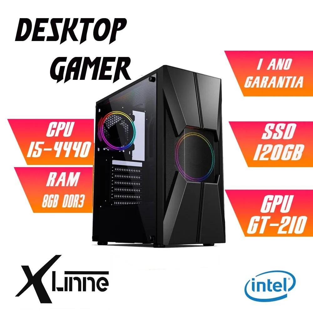 Desktop 1150 Gamer i5 4440 DDR3 8GB SSD 120GB VGA 1030 2GB CGG17B  X-Linne