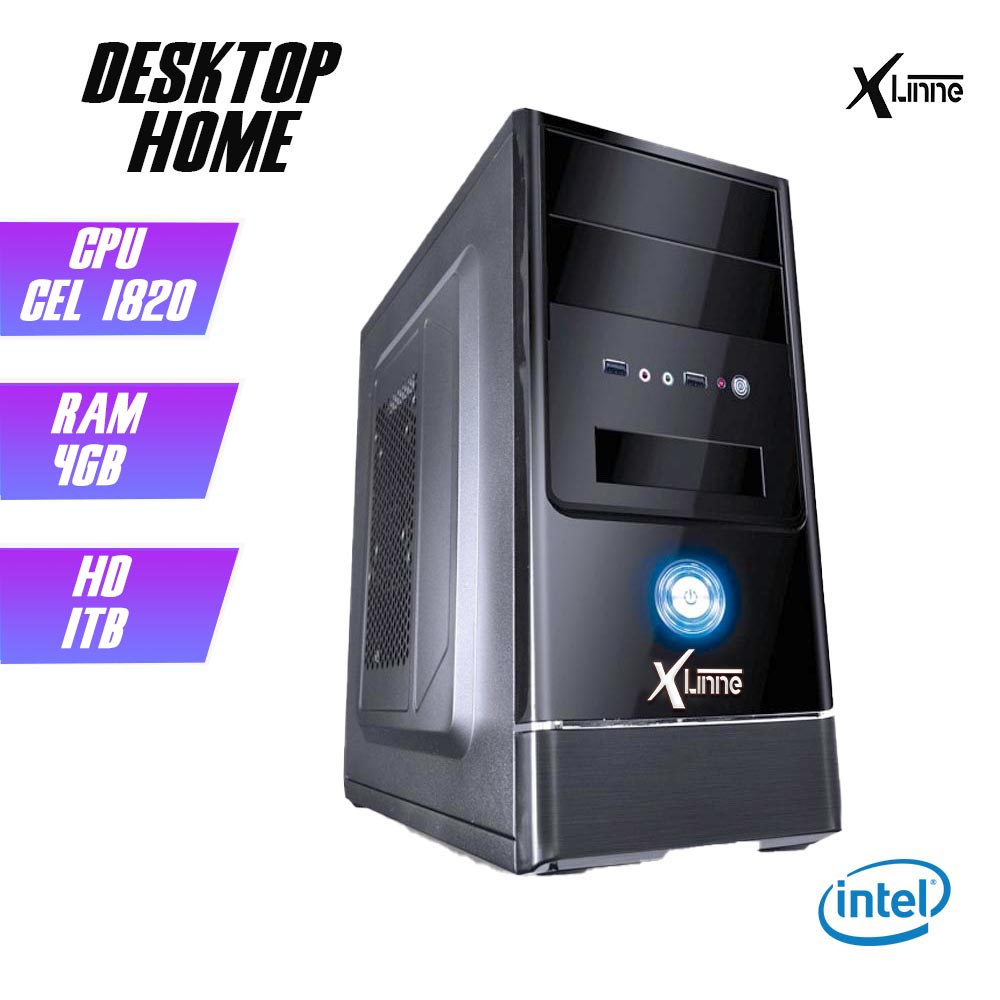 Desktop 1150 Home Cel 1820 DDR3 4GB HD 1TB X-Linne