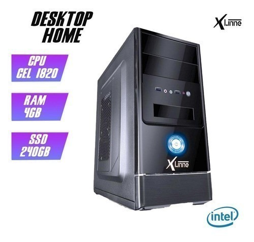 Desktop 1150 Home Cel 1820 DDR3 4GB SSD 240GB X-Linne