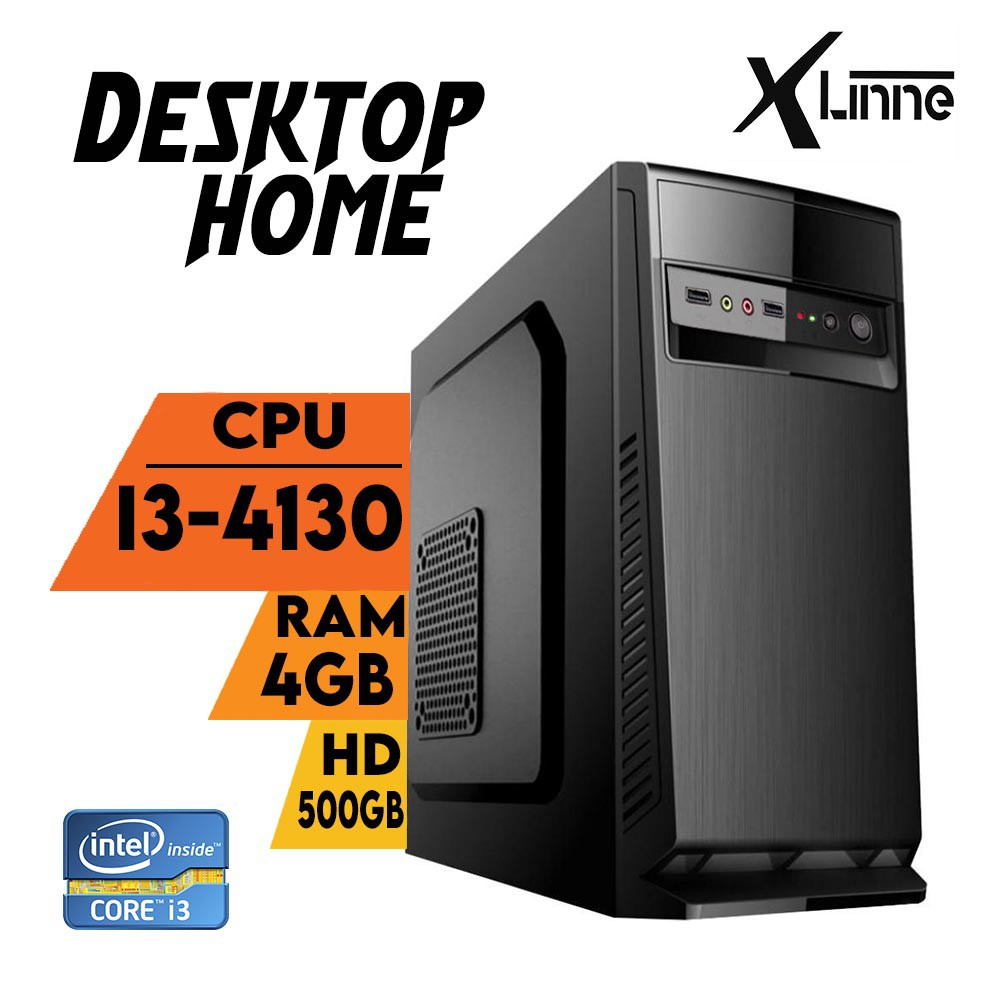 Desktop 1150 Home I3 4130 DDR3 4GB HD 500Gb 4ª Geracao X-Linne