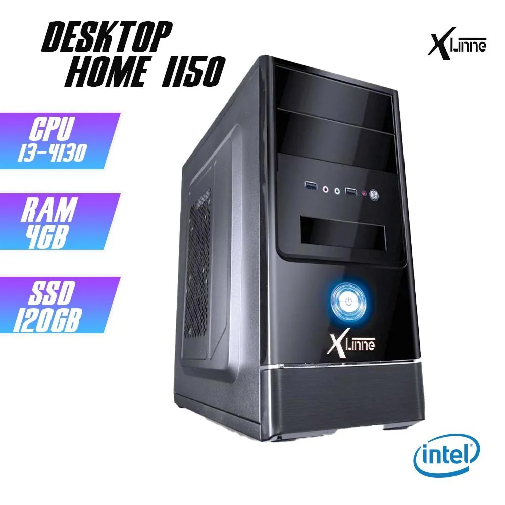 Desktop 1150 Home I3 4130 DDR3 4GB SSD 120GB X-Linne