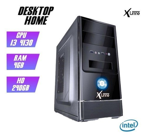 Desktop 1150 Home I3 4130 DDR3 4Gb SSD 240GB X-Linne