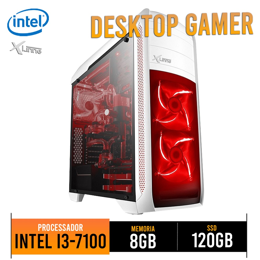 Desktop 1151 Gamer i3 7100 DDR4 8Gb SSD 120GB 8GB BG-024 X-Linne