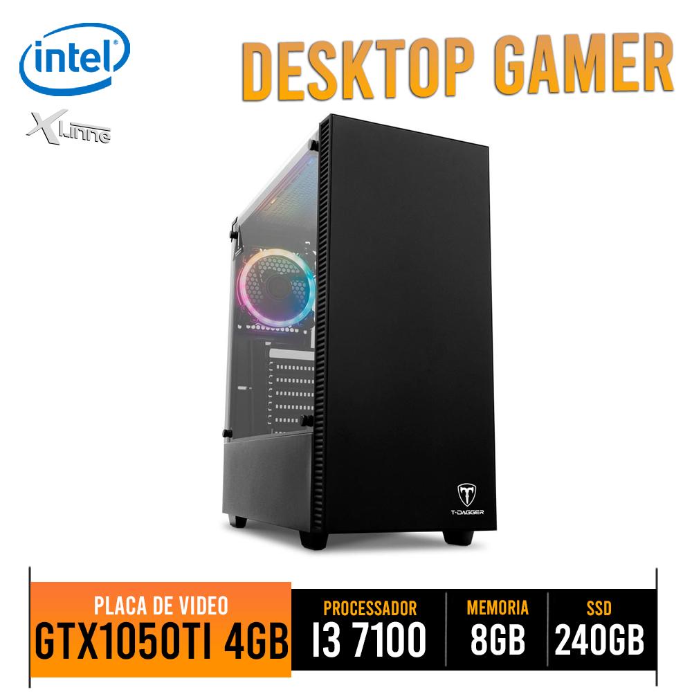 Desktop 1151 Gamer i3 7100 DDR4 8GB SSD 240 VGA 1050 2GB TGC305 X-Linne