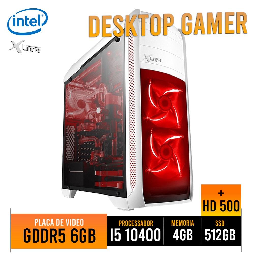 Desktop 1151 Gamer I5 10400 DDR4 4GB HD SSD 512GB HD 500GB VGA 1660 6GB X-Linne