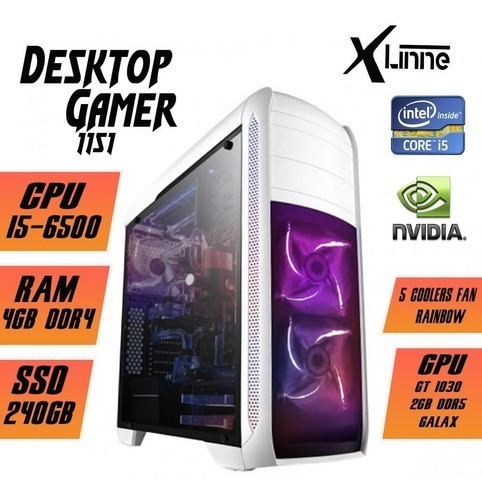 Desktop 1151 Gamer i5 6500 SSD 240GB 8GB BG-024 X-Linne