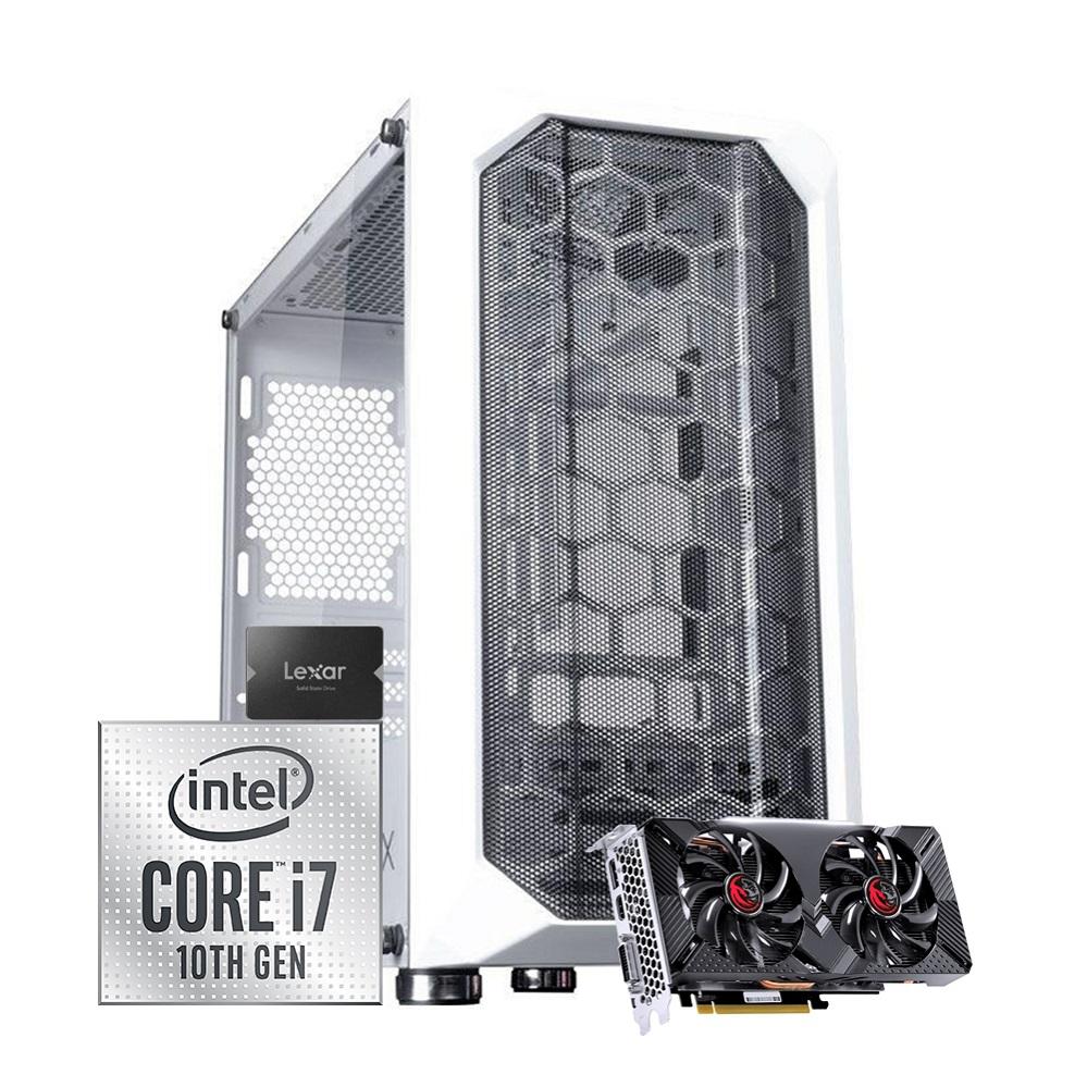 Desktop 1151 Gamer I7 10700 DDR4 16GB SSD 256GB + HD 1TB VGA GTX 1660 6GB 192bits GX-700WH X-Linne