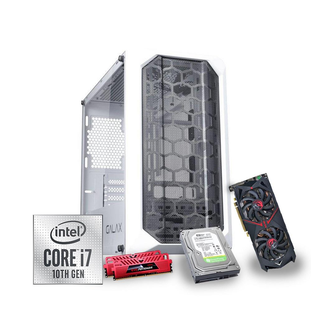 Desktop 1151 Gamer I7 10700 DDR4 16GB SSD 256GB + HD 1TB VGA RX 570 4GB 192bits GX-700WH X-Linne