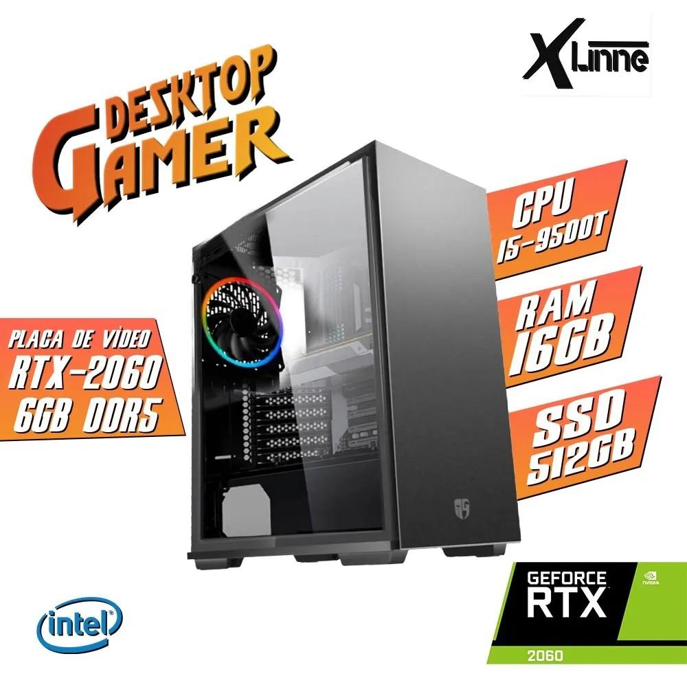 Desktop 1151 Gamer MAC550 i5 9500T DDR4 16Gb SSD 512GB+ HD 1TB VGA GTX2060 6GB X-Linne