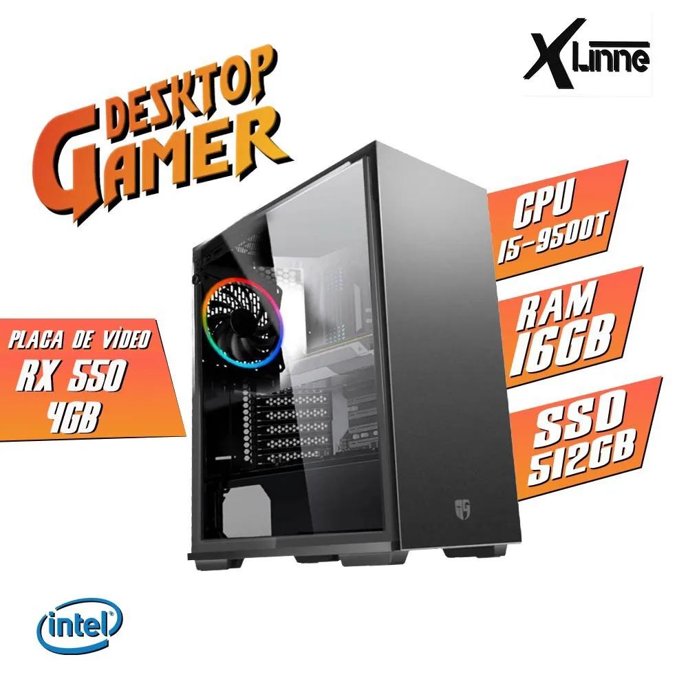 Desktop 1151 Gamer MAC550 i5 9500T DDR4 16Gb SSD 512GB+ HD 1TB VGA RX 550 4GB X-Linne