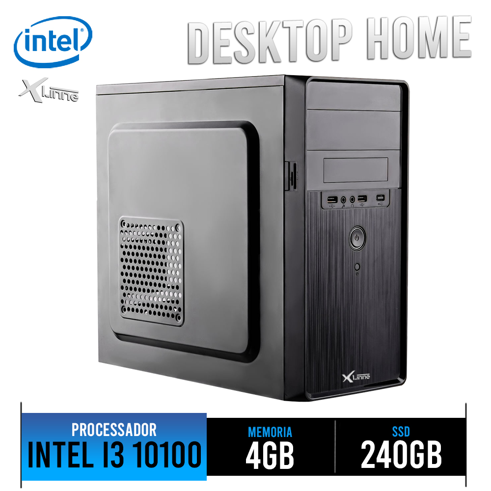 Desktop 1151 Home I3 10100 DDR4 4GB HD SSD 240GB X-Linne