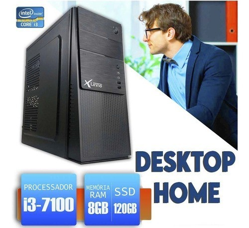 Desktop 1151 Home I3 7100 DDR3 8GB SSD 120GB X-Linne
