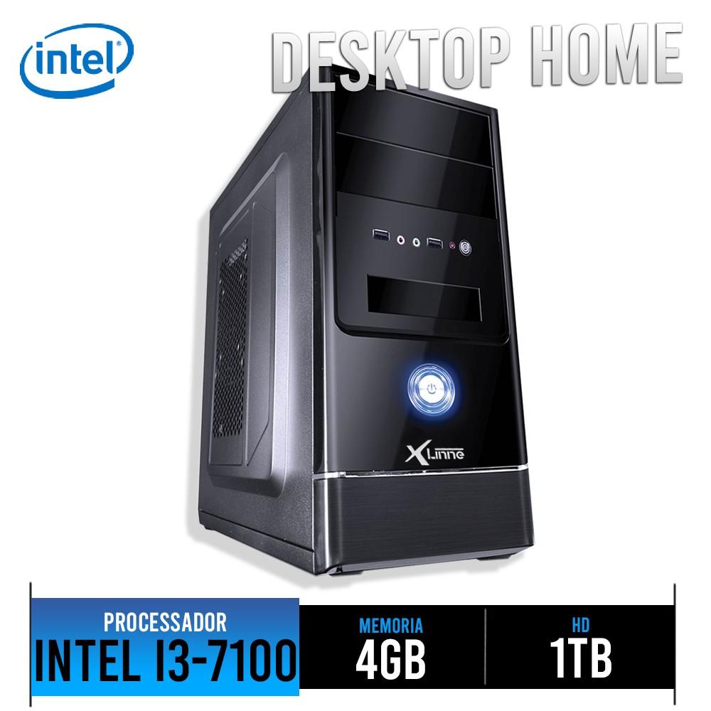 Desktop 1151 Home I3 7100 DDR4 4GB HD 1 Tera X-Linne