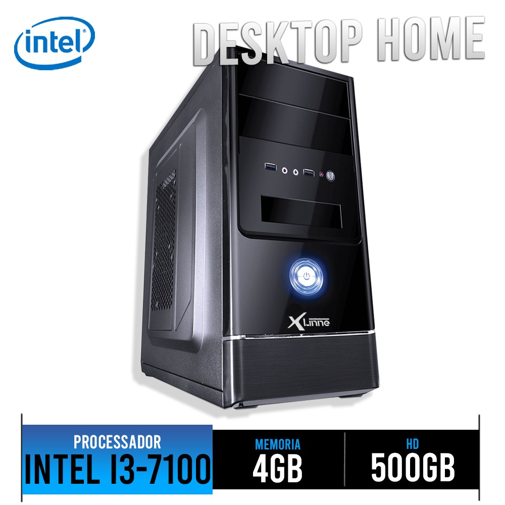 Desktop 1151 Home I3 7100 DDR4 4GB HD 500GB X-Linne