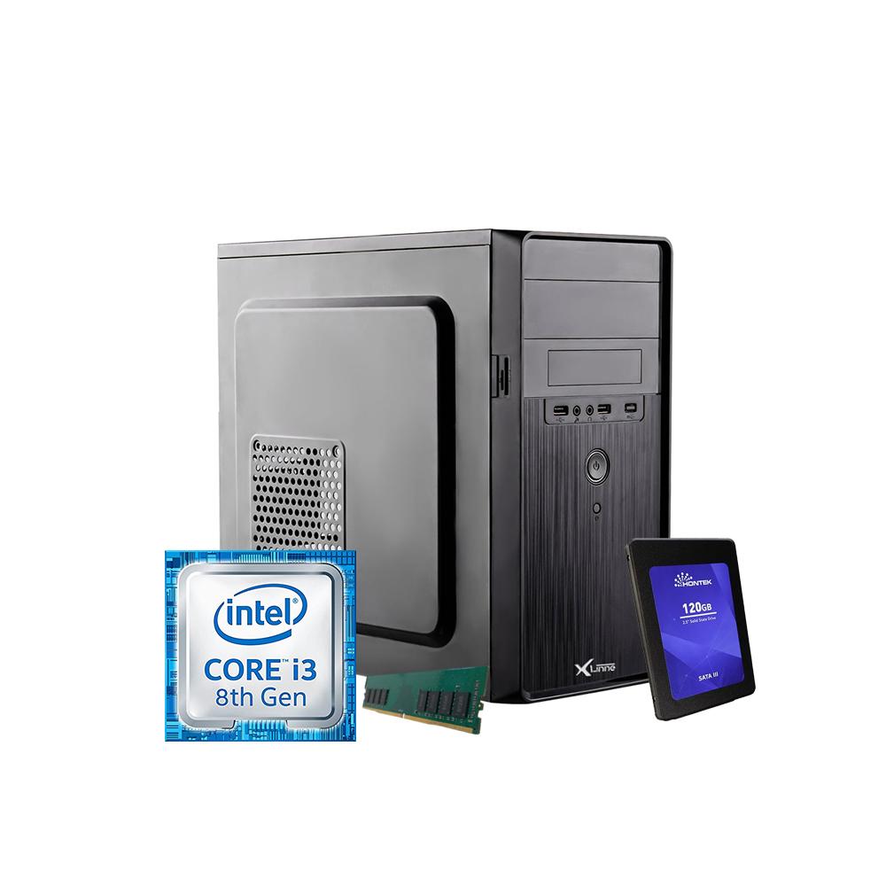 Desktop 1151 Home I3 8100 DDR4 4GB HD SSD 120GB H110 X-Linne