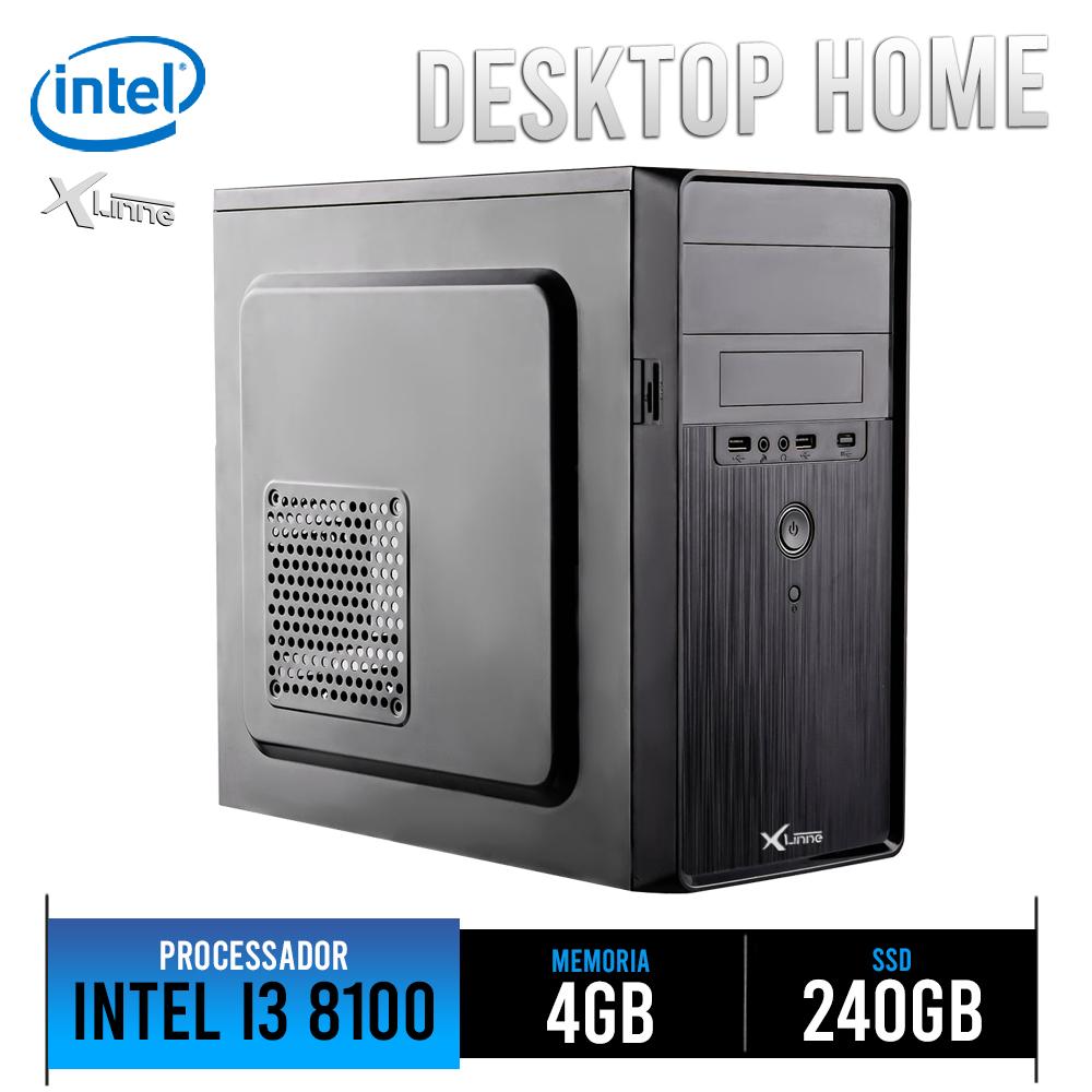 Desktop 1151 Home I3 8100 DDR4 4GB HD SSD 240GB X-Linne