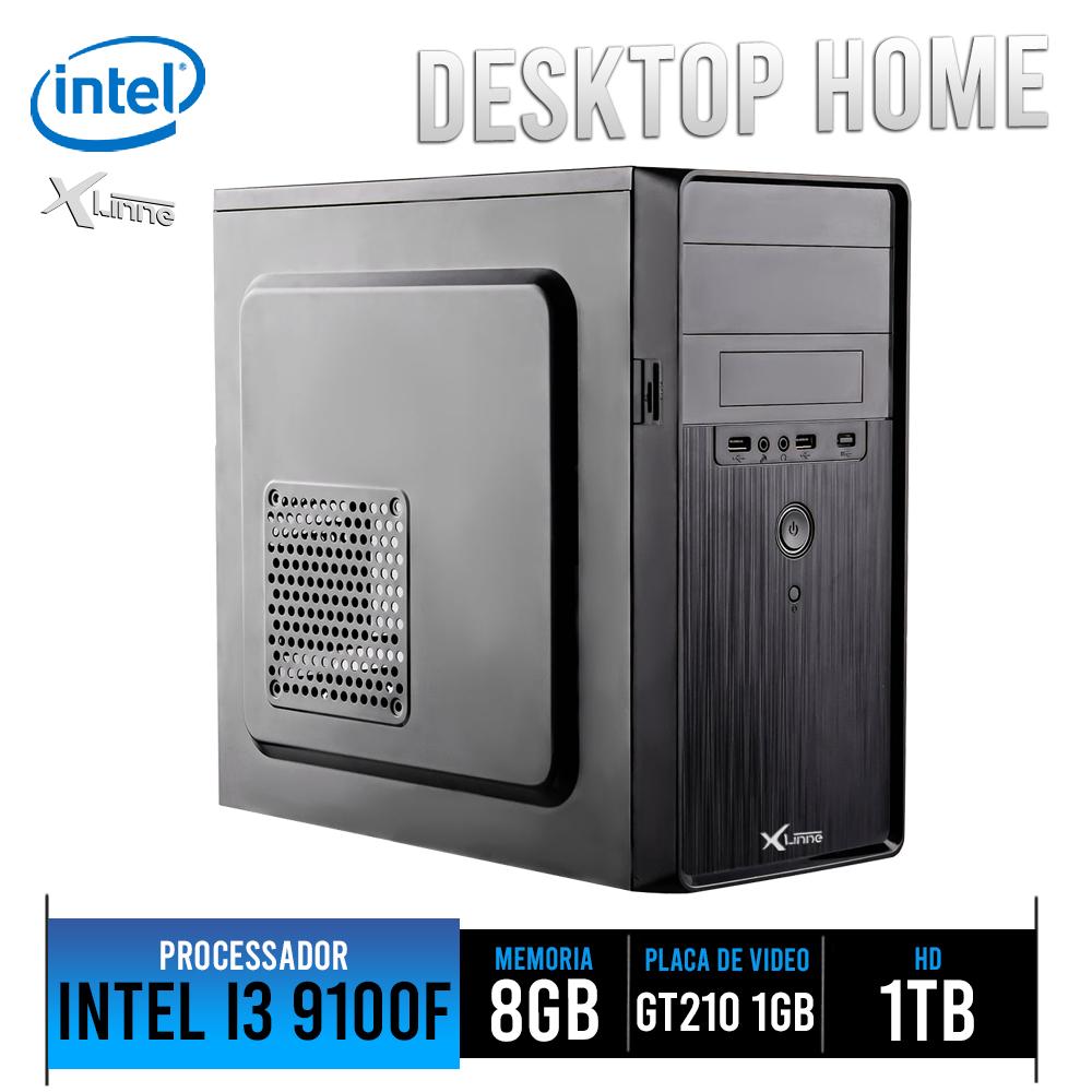 Desktop 1151 Home I3 9100F DDR4 8GB HD 1TB VGA 1GB  X-Linne
