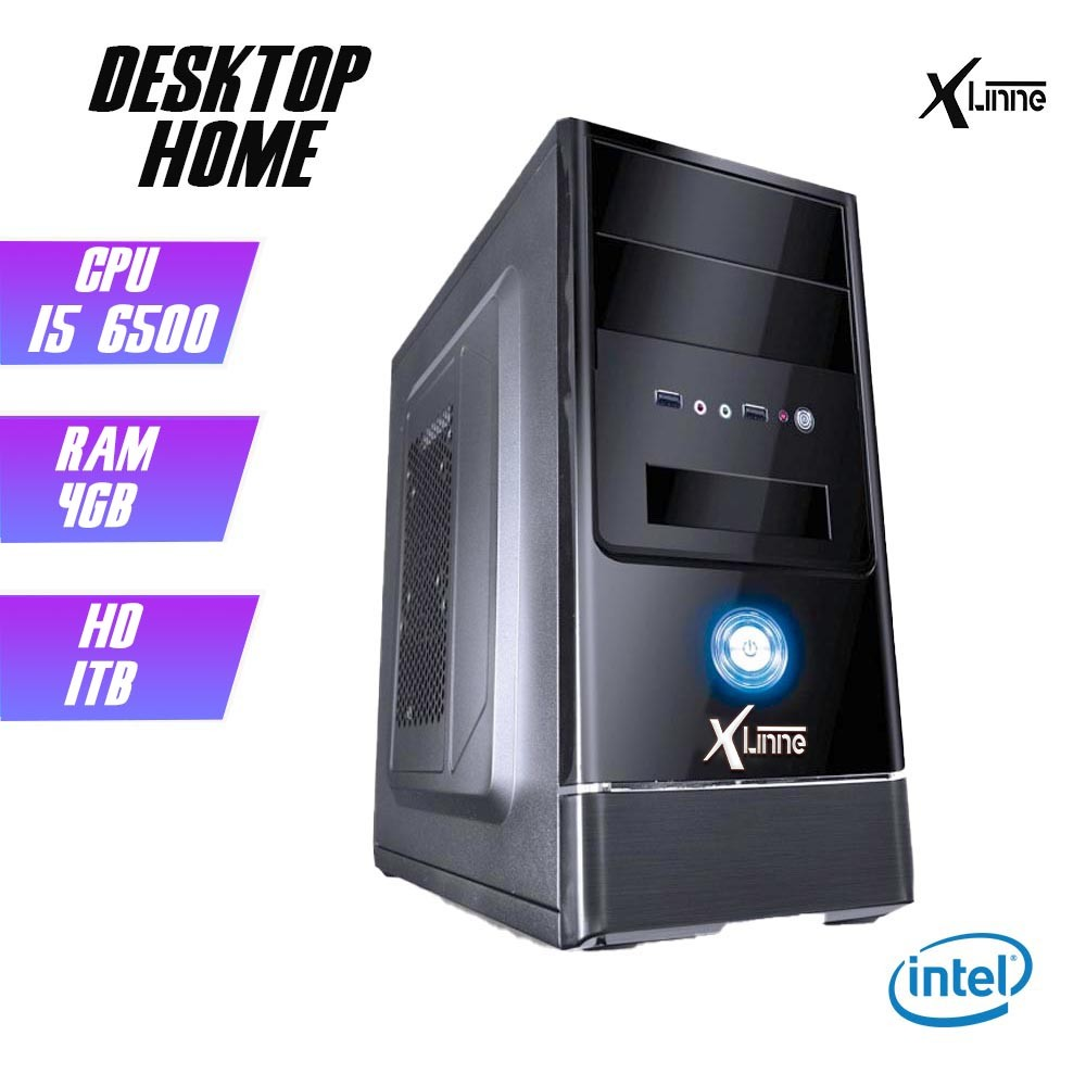 Desktop 1151 Home i5 6500 DDR4 4GB HD 1TB X-Linne