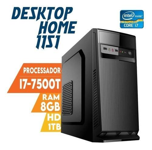 Desktop 1151 Home I5 7500T DDR3 8GB HD 1000GB  X-Linne