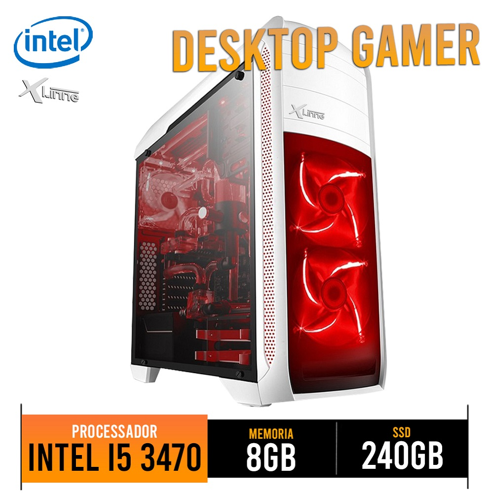Desktop 1155 Gamer I5 3470 DDR3 8GB HD SSD 240GB BG-024 X-Linne