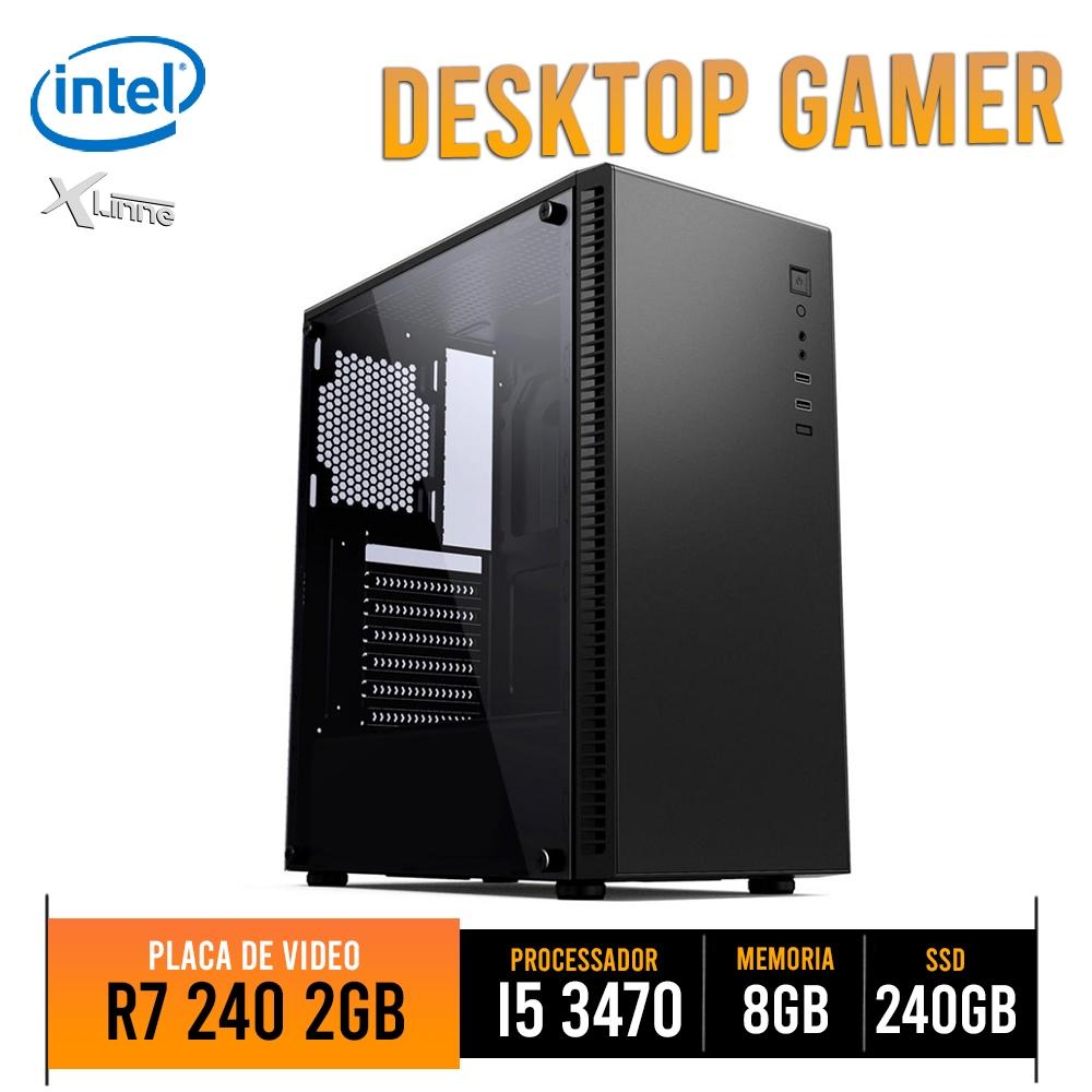 Desktop 1155 Gamer I5 3470 DDR3 8GB HD SSD 240GB VGA R7 240 2GB CGT31B X-Linne