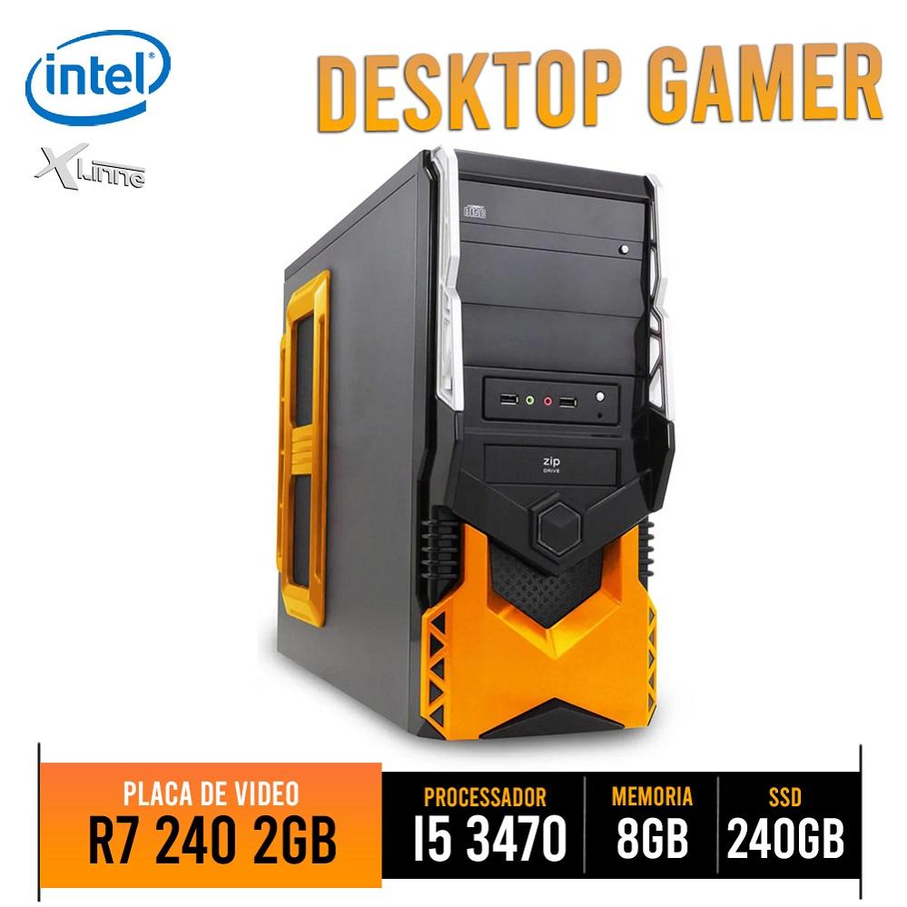 Desktop 1155 Gamer I5 3470 DDR3 8GB HD SSD 240GB VGA R7 240 2GB HT5A250 X-Linne