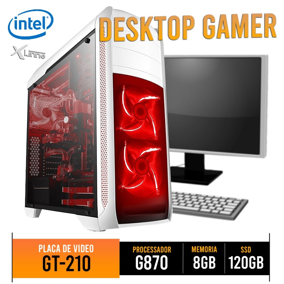 Desktop 1155 Gamer Pentium G870 DDR3 8GB SSD 120GB GT210 ST03 X-Linne