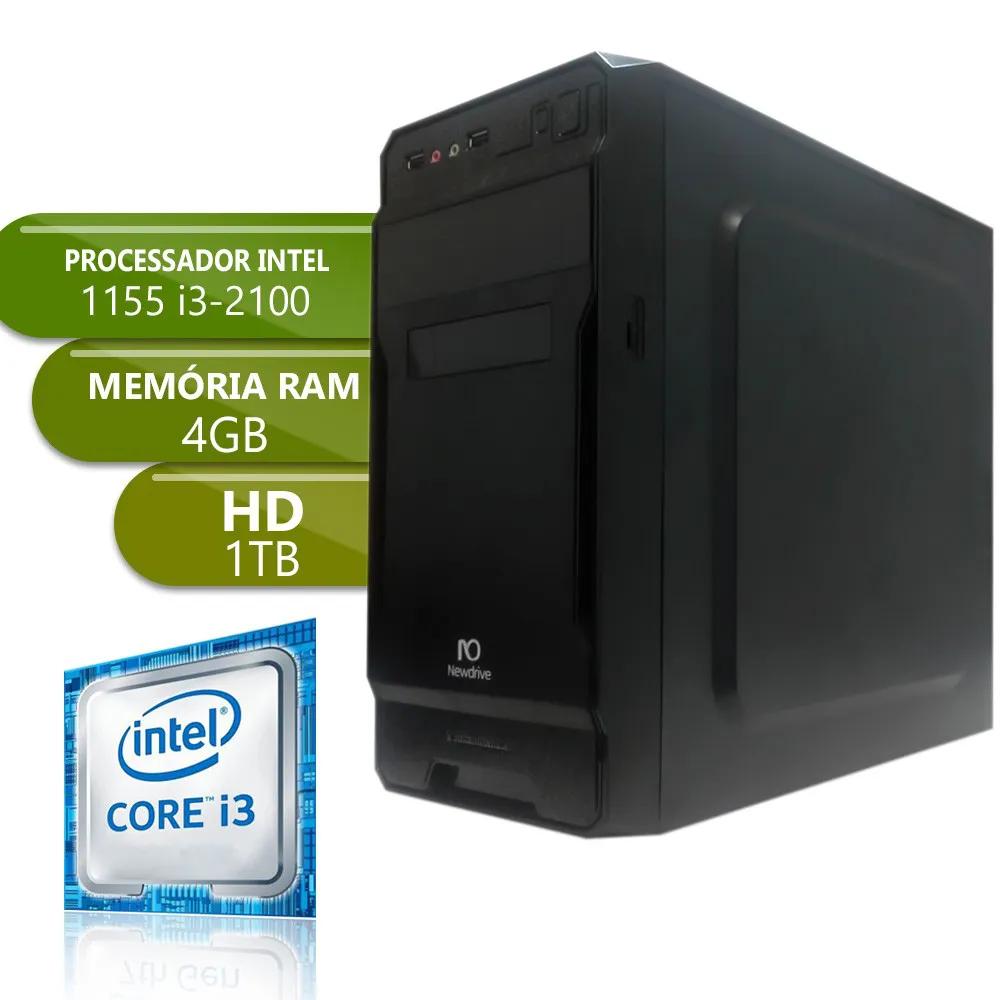 Desktop 1155 Home I3 2100 DDR3 4Gb HD 1TB X-Linne