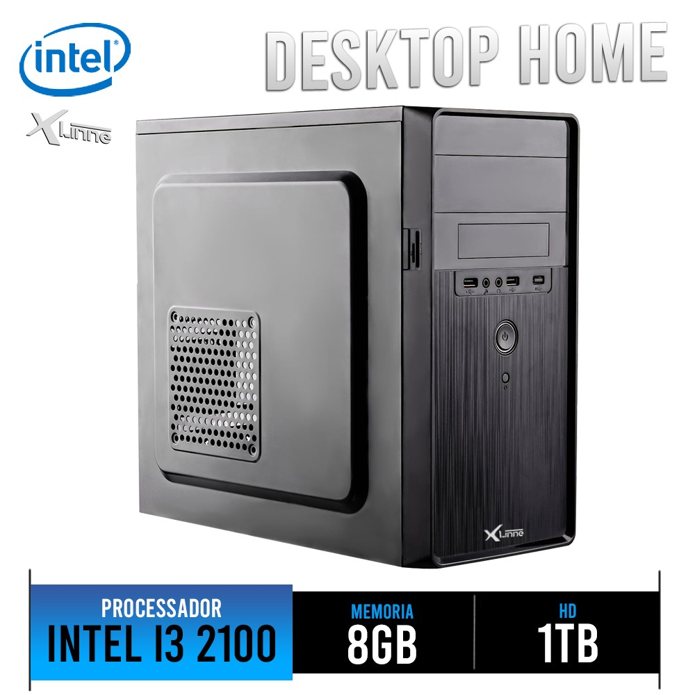Desktop 1155 Home I3 2100 DDR3 8Gb HD 1TB X-Linne