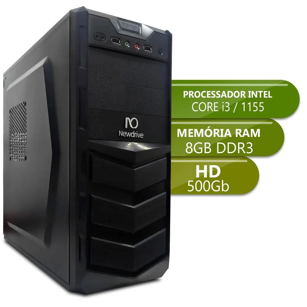 Desktop 1155 Home i3 3220 DDR3 8GB HD 500Gb X-Linne