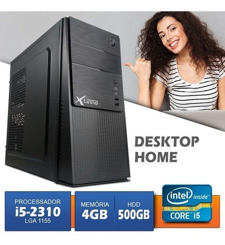 Desktop 1155 Home I5 2310 DDR3 4GB HD 500Gb X-Linne