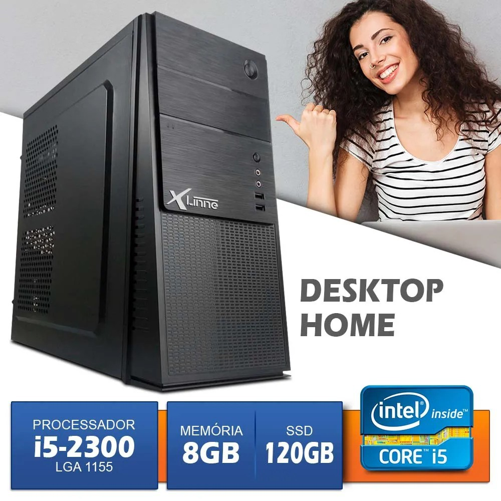 Desktop 1155 Home I5 2310 DDR3 8GB SSD 120GB X-Linne