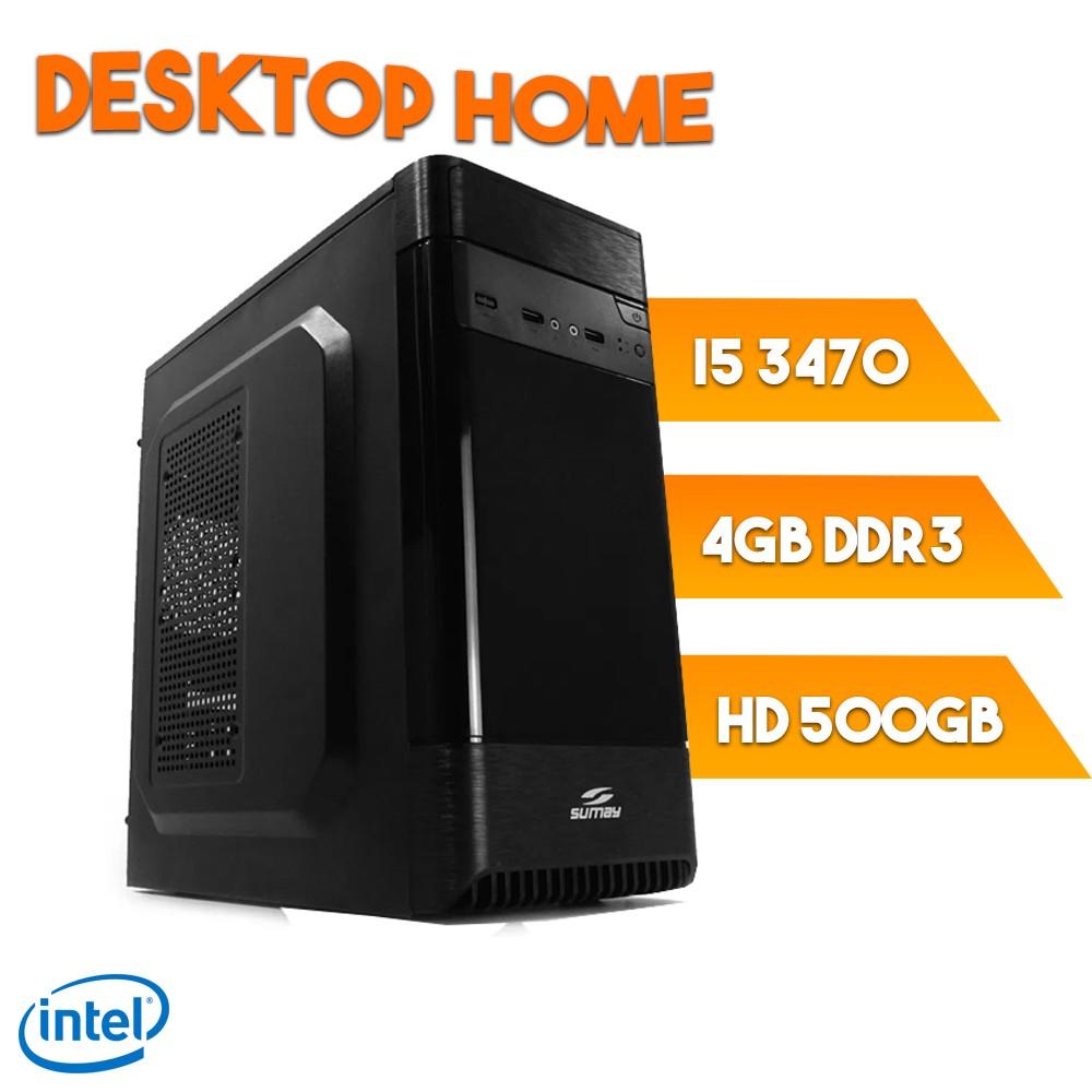 Desktop 1155 Home I5 3470 DDR3 4Gb HD 500GB X-Linne