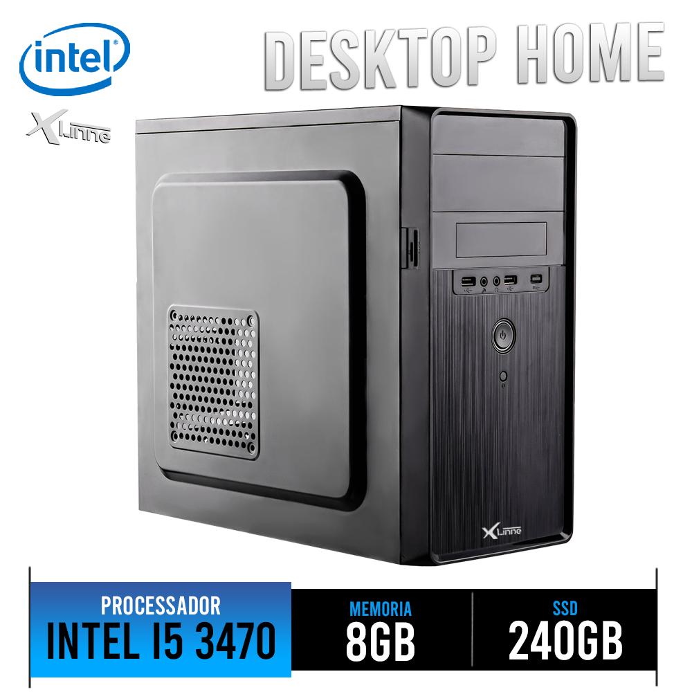 Desktop 1155 Home I5 3470 DDR3 8Gb SSD 240GB X-Linne